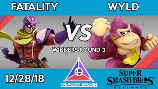 Tripoint Smash 41 - Winners Round 3 - Fatality (Captain Falcon) Vs. Wyld (Donkey Kong)