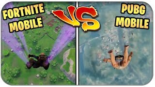 PUBG MOBILE vs FORTNITE ON HANDY 📱 Battle Royale Inglés Alemán Descargar