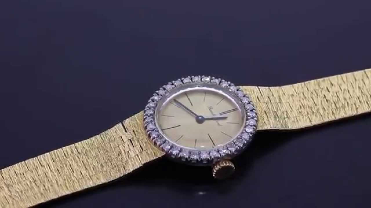 bueche girod 18ct gold ladies diamond set watch m615 bueche girod 18ct gold ladies diamond set watch m615
