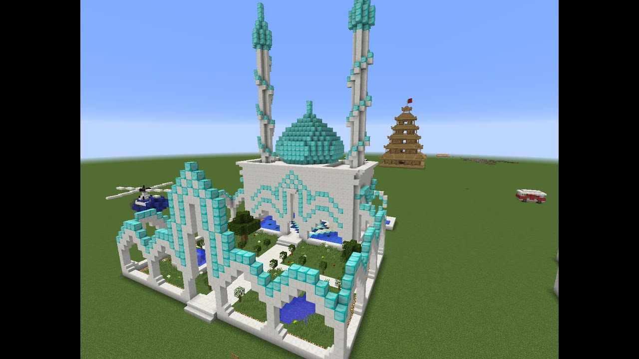 Tuto construction temple ou mosqu e minecraft youtube for Minecraft tuto construction