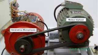 Essai moteur triphasé, 1ère partie, branché en tri 400v
