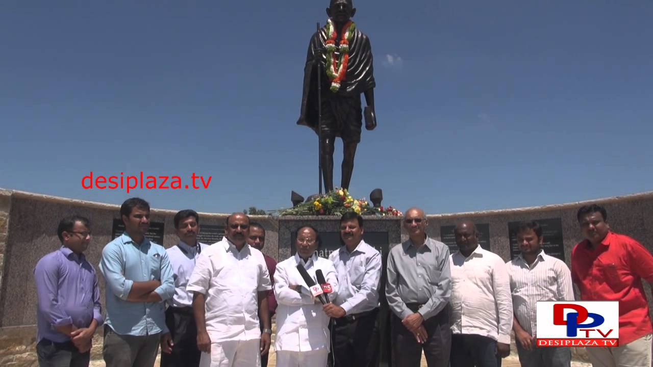 Dr.Kodela Siva Prasad visited Gandhi Memorial Park in Irving, Texas