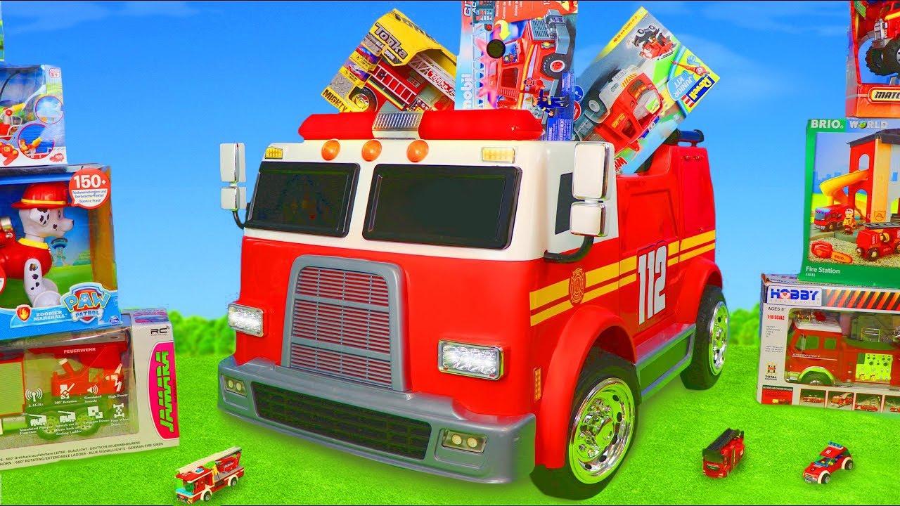 ألعاب سيارات المطافي -ليجو دوبلو, رجل الإطفاء سام و ألعاب سيارات باو باترول للأطفال Fireman Sam Toys