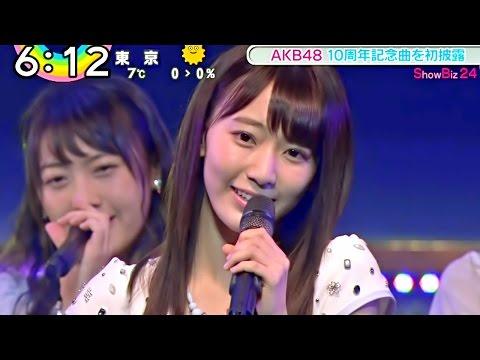 【Full HD】 HKT48 宮脇咲良センター曲 AKB48 10周年記念シングル『君はメロディー』初披露 (2016.01.24)