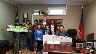 Sunshine STEM Academy Robotics Teams Present Projects to Senator John Albers