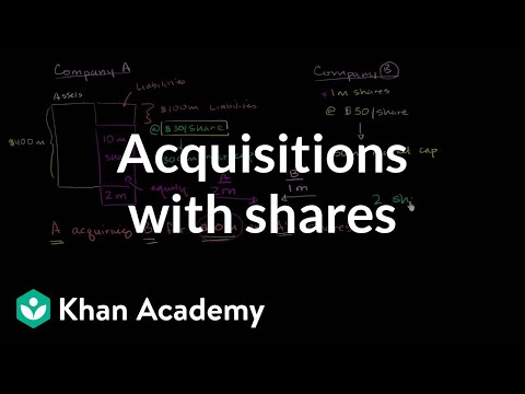 Acquisitions with shares | Stocks and bonds | Finance & Capi