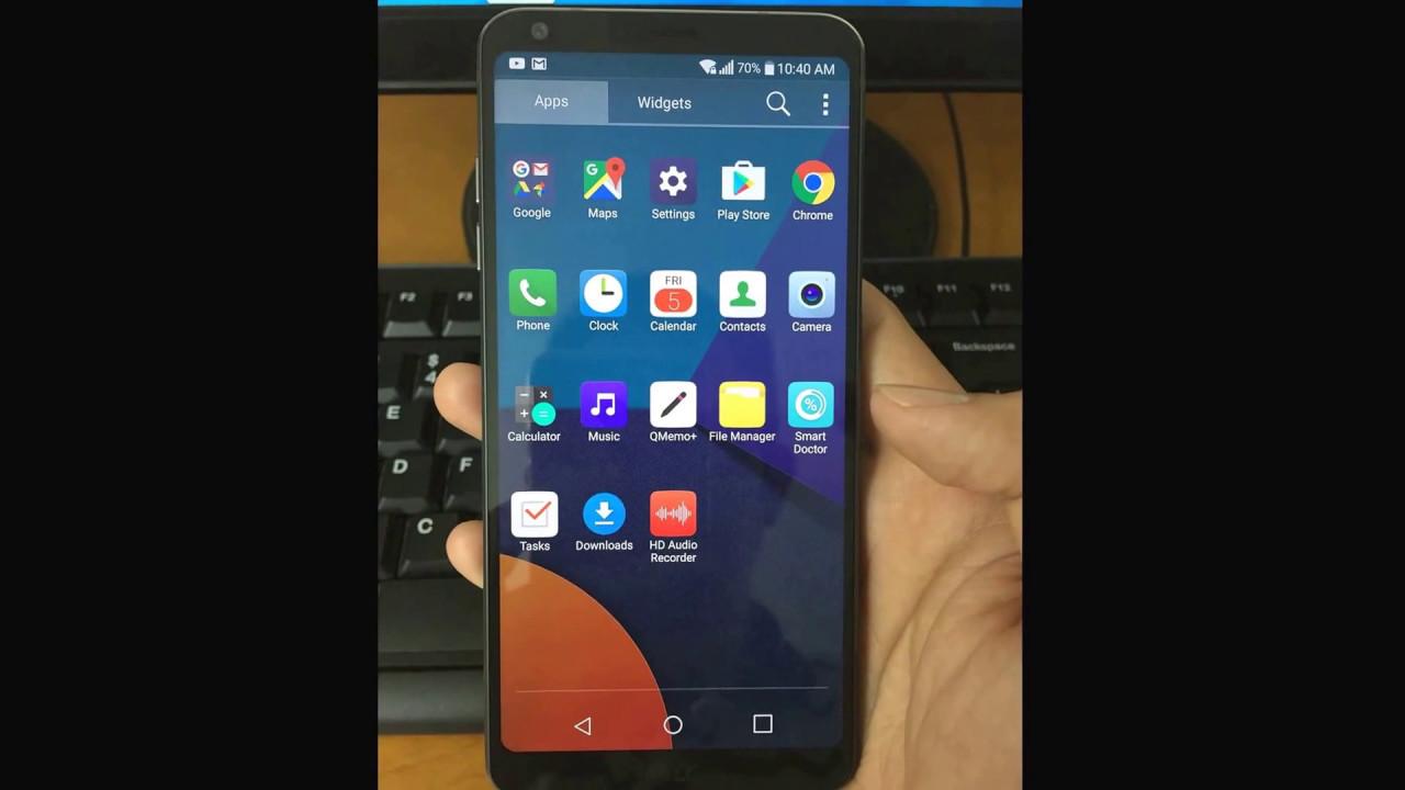 Remove google account LG G6 T Mobile H872 USA