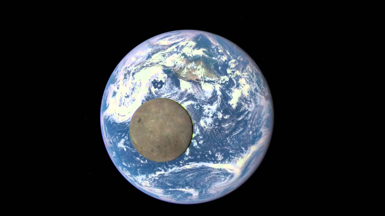 EPIC View Of Moon Transiting The Earth YouTube - Live earth view through satellite