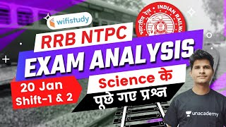 Science Questions Asked in RRB NTPC 20th Jan 2021 Exam | GS Questions by Neeraj Jangid