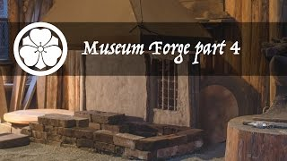 Museum Forge part 4/7 - making a tuyere from clay and charcoal brasque