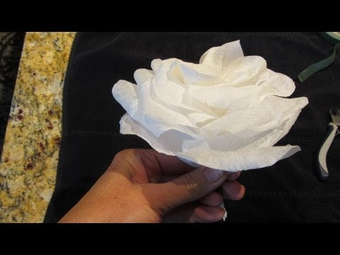 How to make a rose out of a paper napkin
