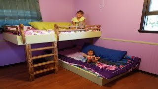 Several years ago, I purchased a set of plans and made my three sons a triple bunk bed set. At the time, I did not own many tools In