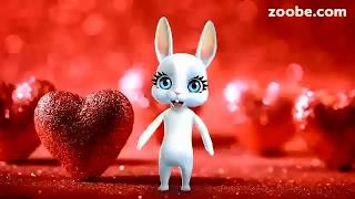 Zoobe Зайка Поздравляю с днем Влюбленных!