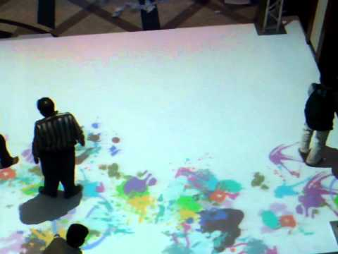Interactive Floor Installation in Kuwait - Graffiti Theme