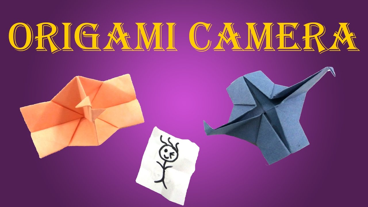 how to make origami camera which clicks pictures diy