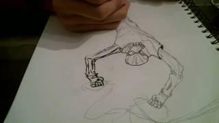 Drawing Spider-Man (Noir)