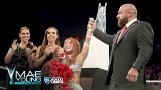 Kairi Sane is presented the Mae Young Classic trophy: Mae Young Classic Finale, Sept. 12, 2017