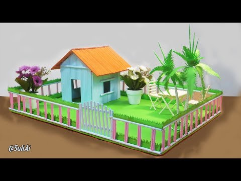 Making Paper House -  Beautiful Home with Playground for Pets & Kids