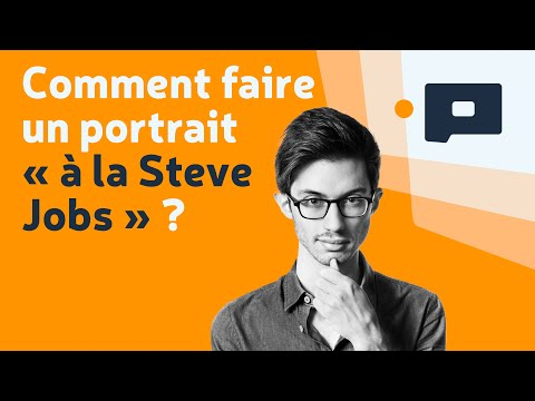 "📷Apprendre la Photo - Tuto : comment faire un portrait ""à la Steve Jobs"" ?"