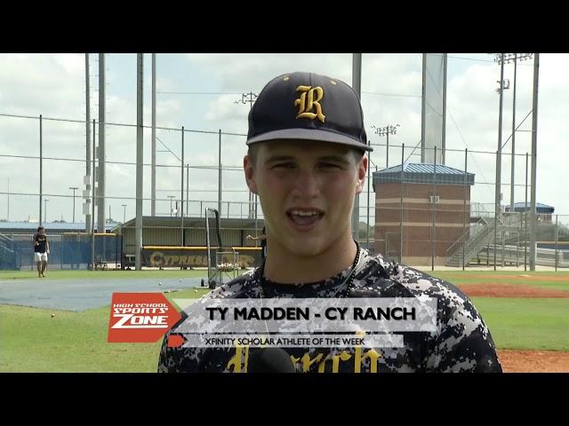Ty Madden Xfinity Scholar Athlete of The Week