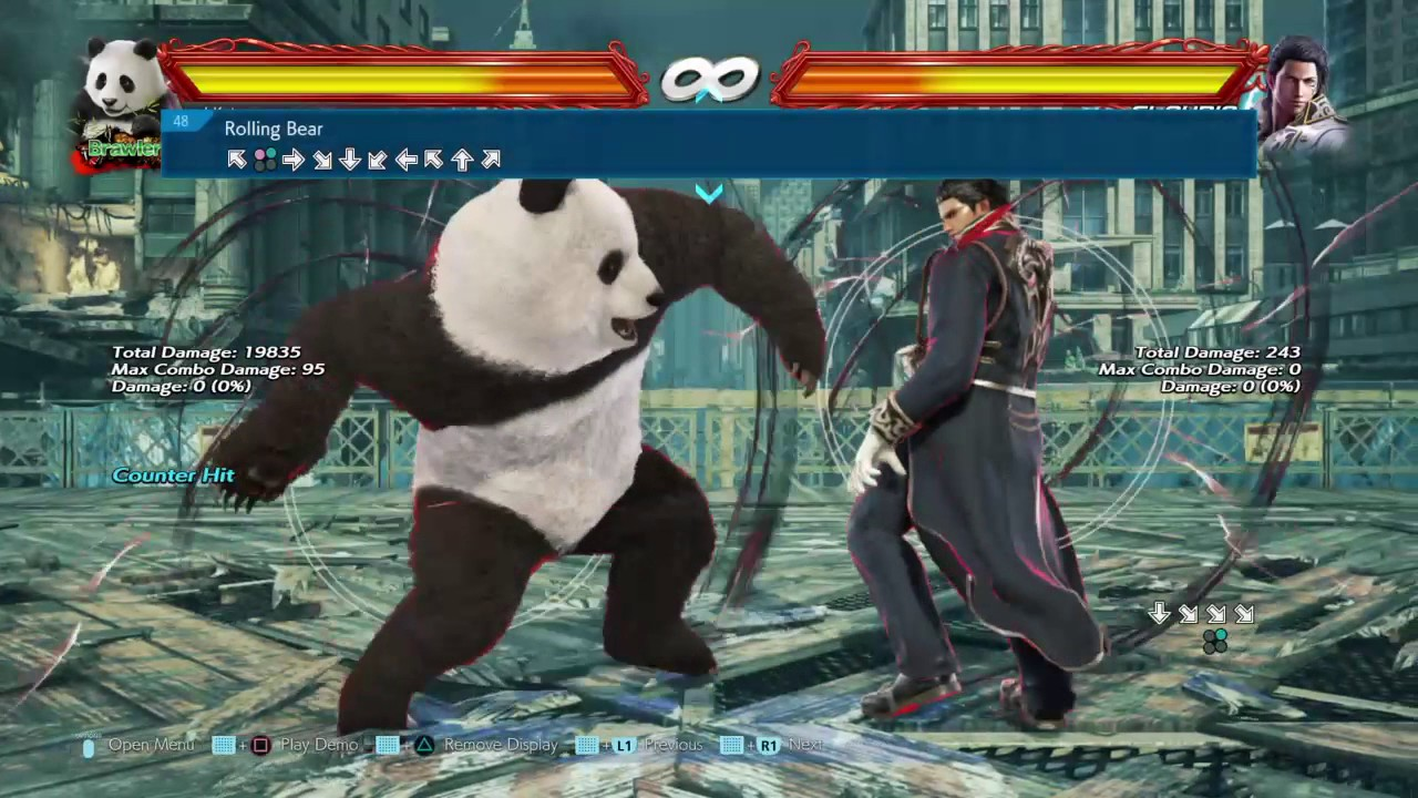 Tekken 7 Kuma Panda Bears Oki Unblockable Mixup Setup Description Youtube