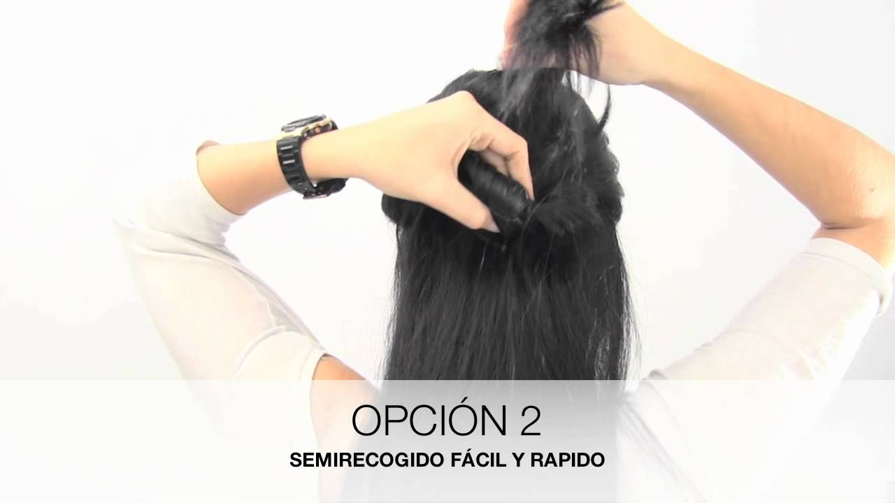 Peinados semirecogidos pelo largo liso