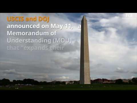 U.S. Immigration Alert – DOJ & USCIS Announce Agreement on Protecting U.S. Workers