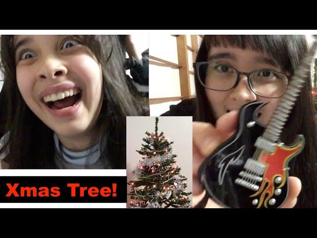 Decorating Xmas Tree in Japan - クリスマスツリー!!!