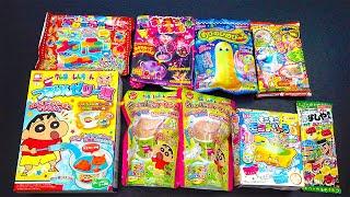 popin cookin diy japanese candy kit asmr educational sweet jelly noodle, block gummy, choco dessert