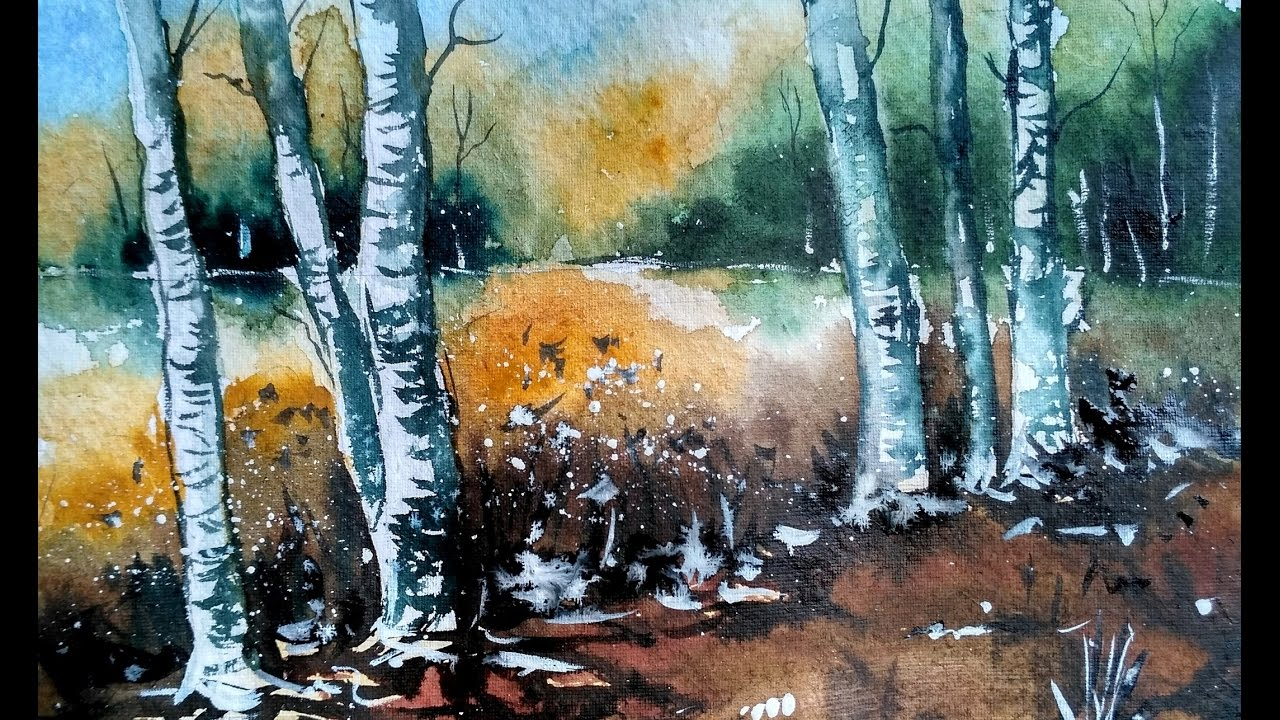 Simple Watercolor Landscape Painting