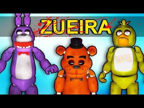 Gmod Five Nights at Freddy da ZUEIRA - Momentos Engraçados (Garry's Mod SandBox Terror)