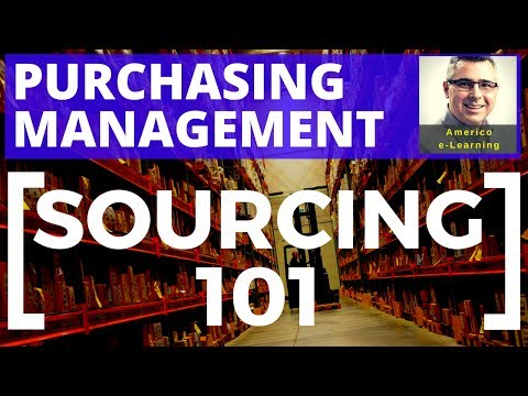 Sourcing 101 - alternatives in business purchasing