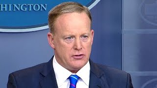 watch spicer responds to nyt story takes budget questions at wh briefing