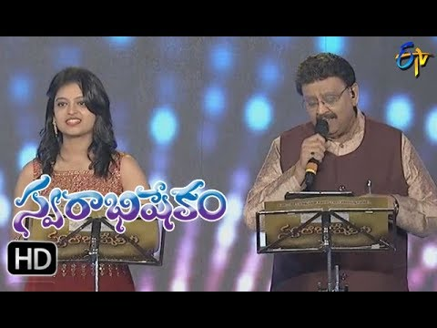 Oka Laila Kosam Song |SP Balu,Sanjana Performance | Swarabhishekam | 29th October 2017 | ETV  Telugu
