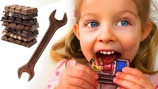 Съедобное или настоящее: Шоколадный челлендж от Лизы и мамы