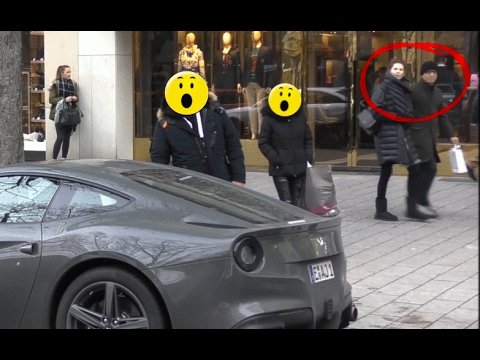 Ferrari F12berlinetta - People's Reactions in Düsseldorf!