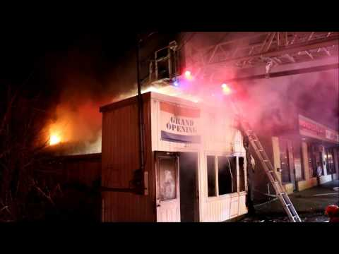 BARBERSHOP CATCHES FIRE IN RONKONKOMA, NEW YORK