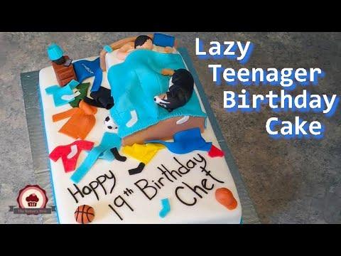 Lazy Teenager Birthday Cake Youtube