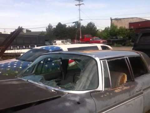check out all these beat up old cars