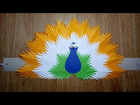 DIY TRI COLOR PAPER PEACOCK HEADDRESS |INDEPENDENCE DAY | INDIA