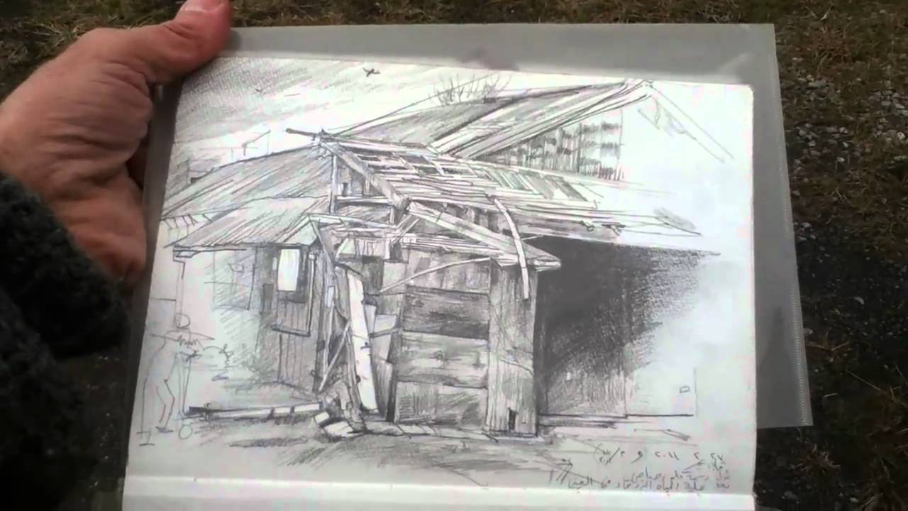 how to draw an old abandoned house