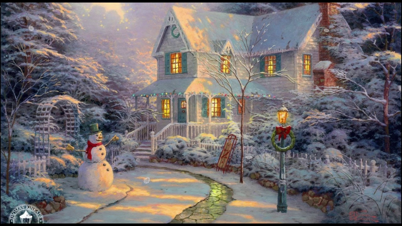 Thomas Kinkade Christmas.Thomas Kinkade Christmas Screen Saver