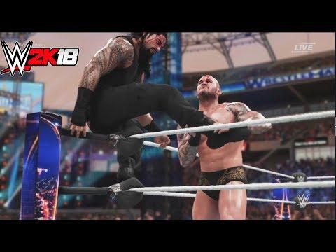 WWE-2K18-Roman Reigns vs Randy orton - :No...