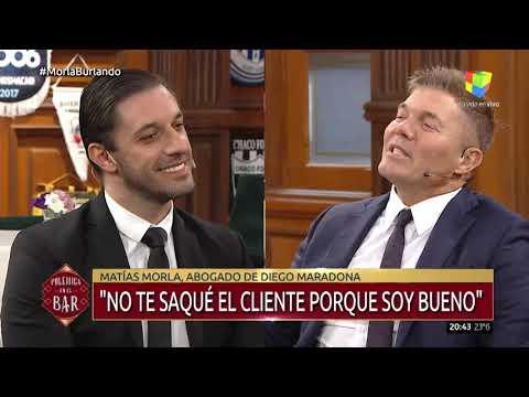 Morla se cruzó con Burlando y dijo que mientras Diego se moría, Claudia compraba departamentos