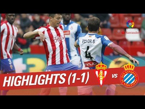 Resumen de Sporting de Gijón vs RCD Espanyol (1-1)