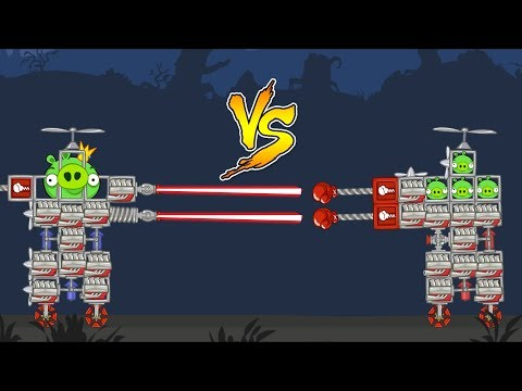 Bad Piggies - INTERESTING BATTLE OF PIG AND KING PIG!