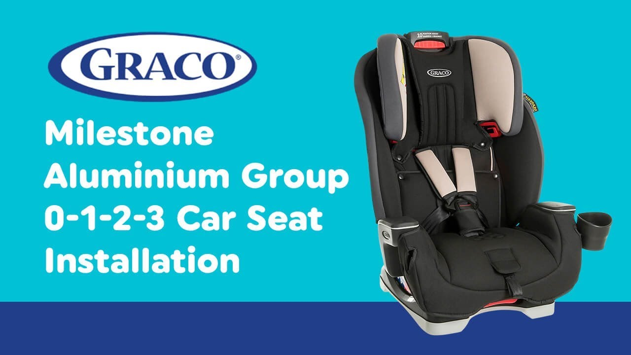 Graco Milestone Car Seat Isofix Installation Guide For Graco Milestone Aluminium Group 1 2 3 Car Seat Smyths Toys