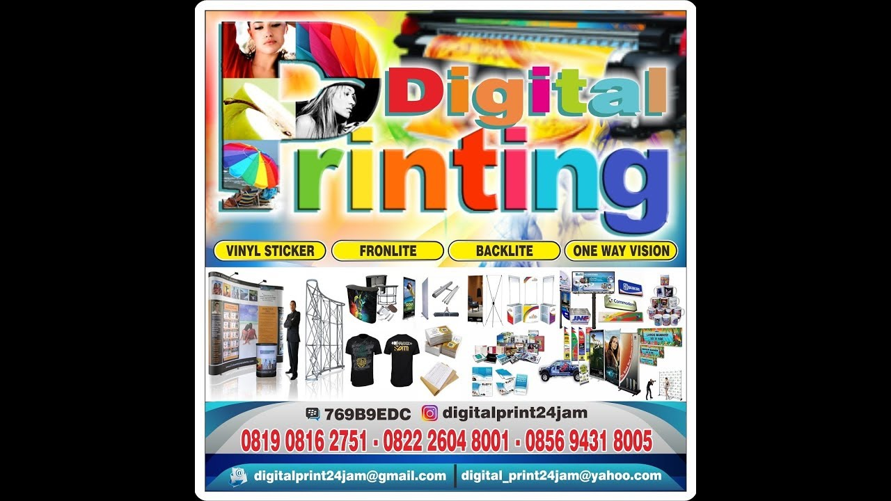 Digital Print 24 Jam Youtube Banner Produk