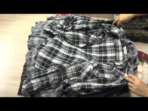 Мужские рубашки фланель секонд-хенд оптом. Лот 1