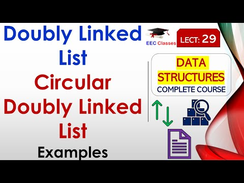 Doubly Linked List and Circular Doubly Linked List with example in Hindi, English